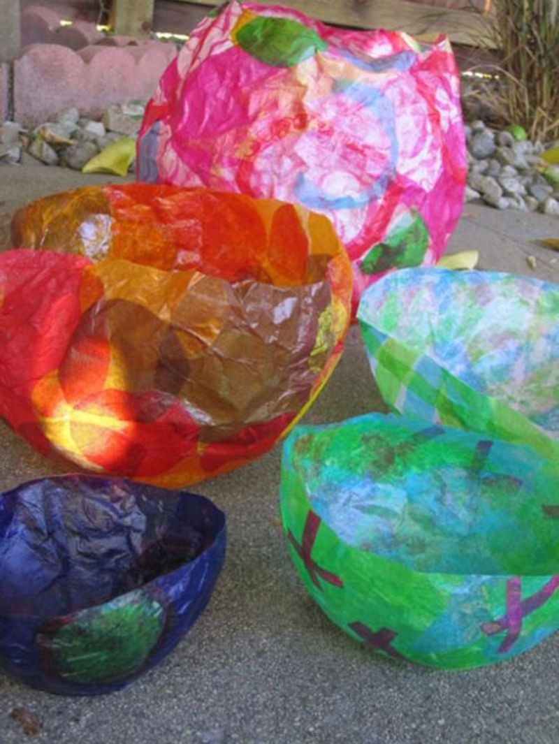 Balloon Bowl Tissue Paper Craft