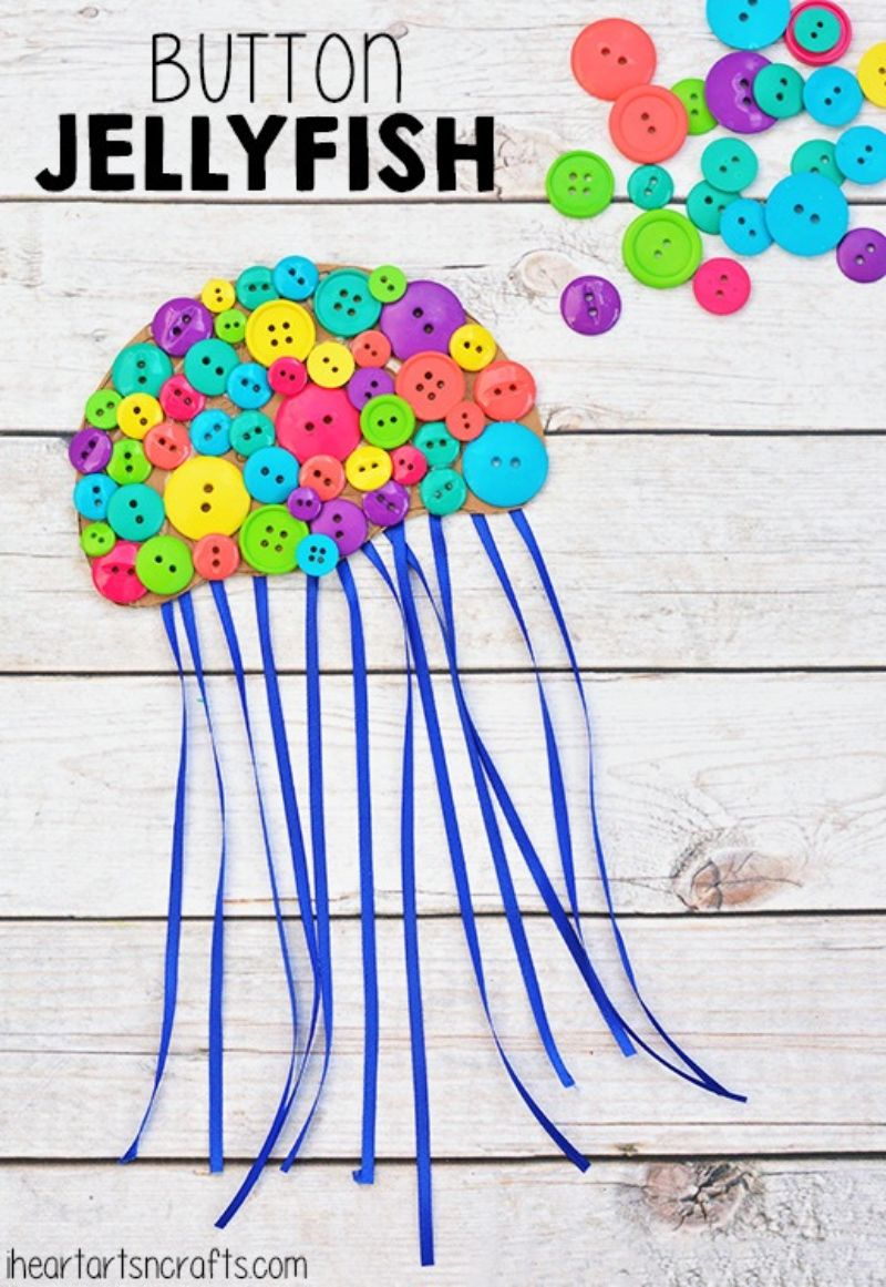 Button Jellyfish Craft