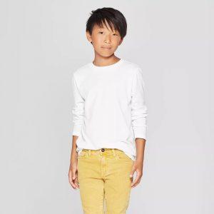 Cat & Jack Youth Long Sleeve T-Shirt (60% Cotton)