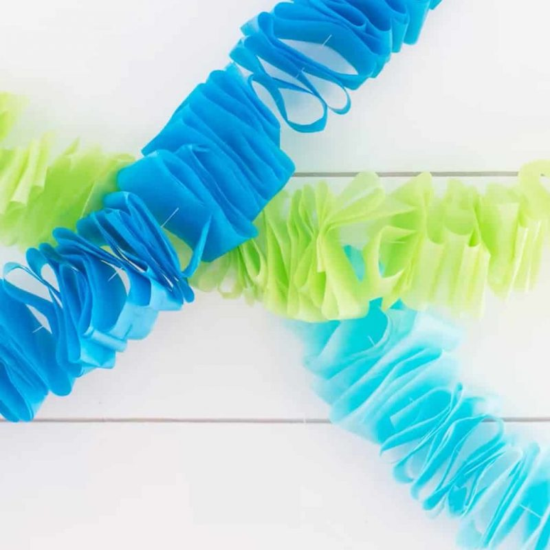 Ruffled Tissue Paper Garland