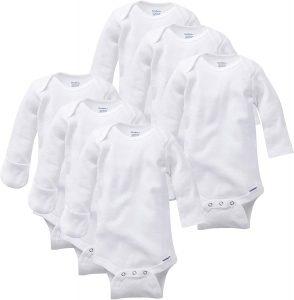 Gerber Baby 3-Pack Or 6-Pack Long-Sleeve Mitten-Cuff Onesies Bodysuit