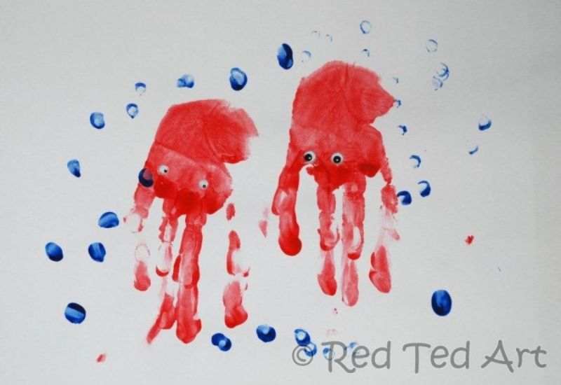 Handprint Jellyfish Painting