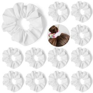 Konooy 12-Pack Scrunchies (100% Cotton)