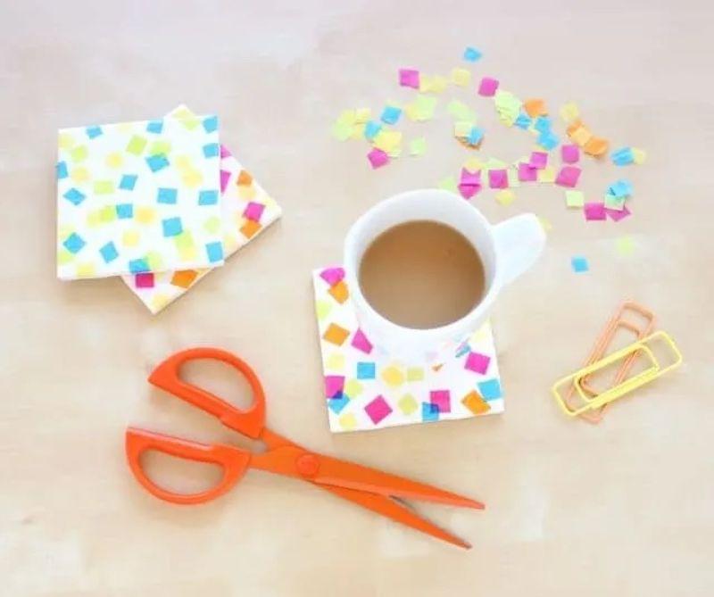 Tissue Paper Coaster Craft