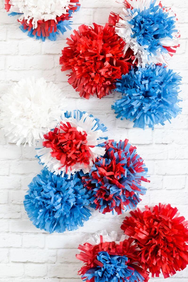 Tissue Paper Fireworks Craft