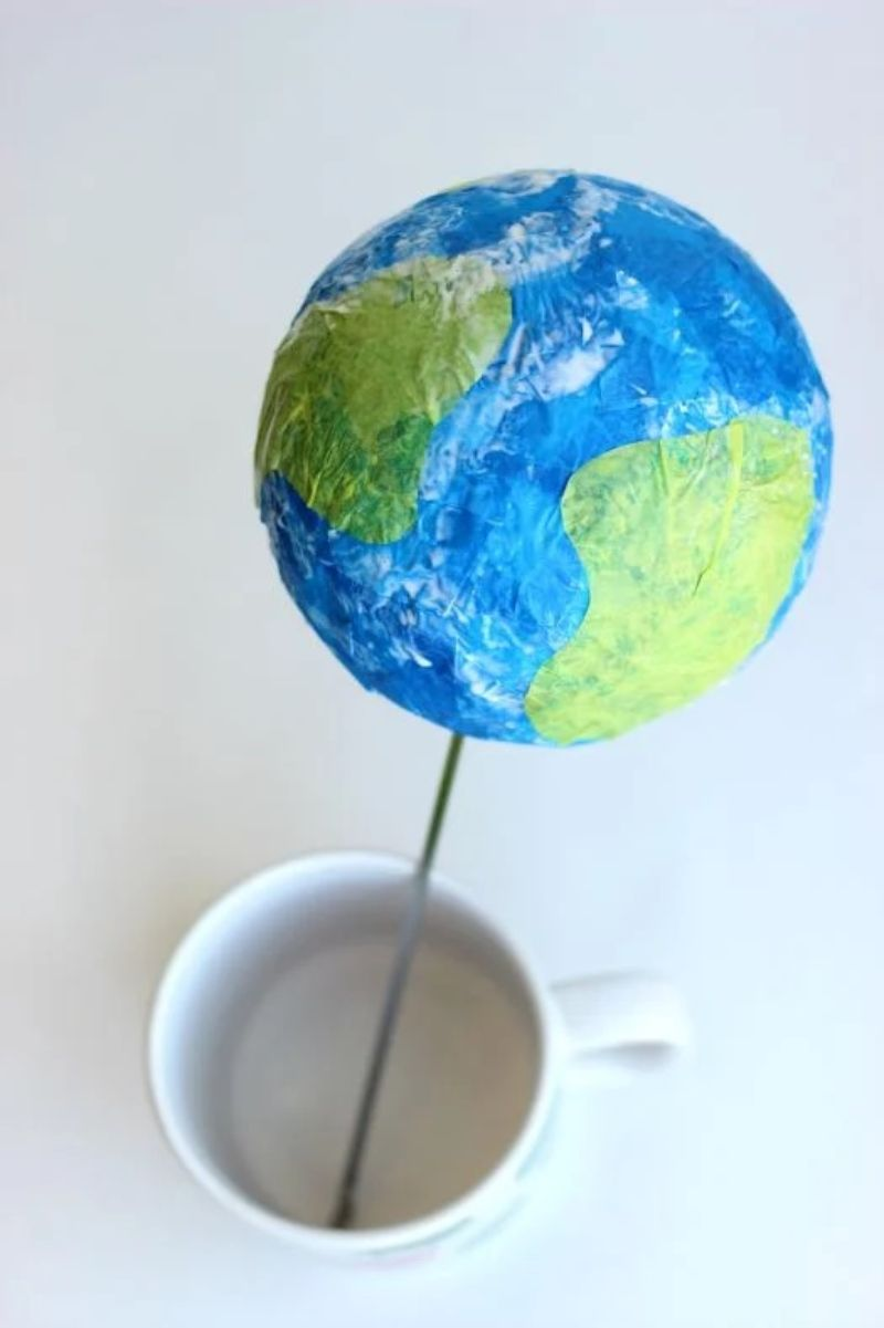 Tissue Paper Globe Craft