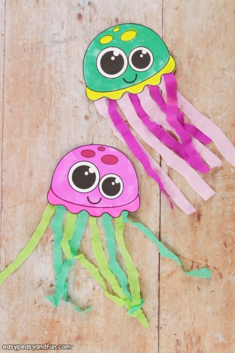 Tissue Paper Jellyfish Craft