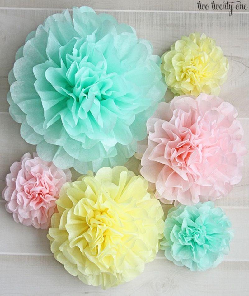 Tissue Paper Pom Pom Craft