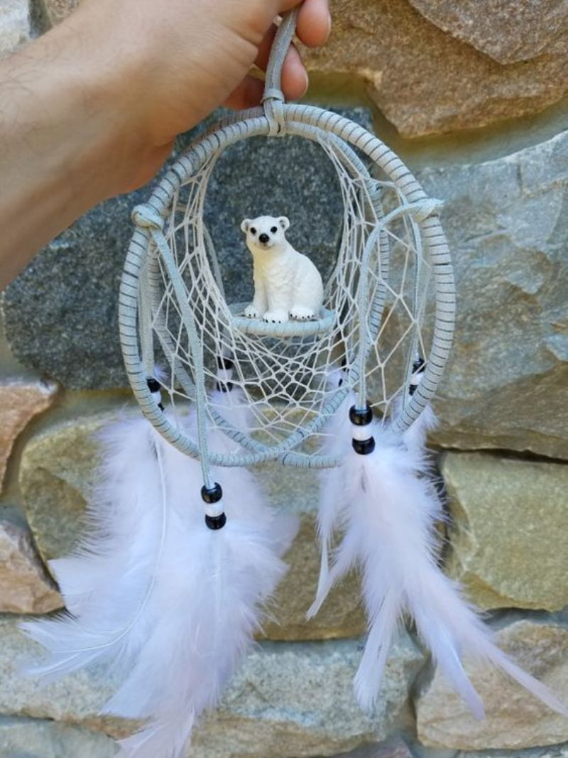 polar bear dream catcher