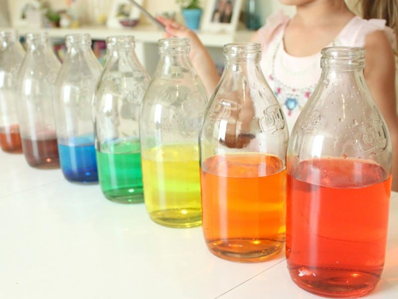 Rainbow Bottle Xylophone