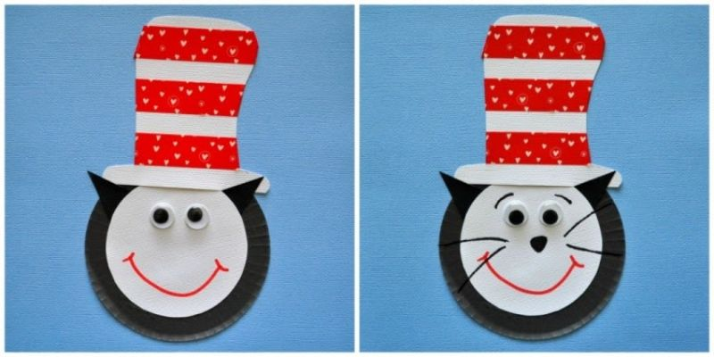 Cat in the Hat Cupcake Liner Craft