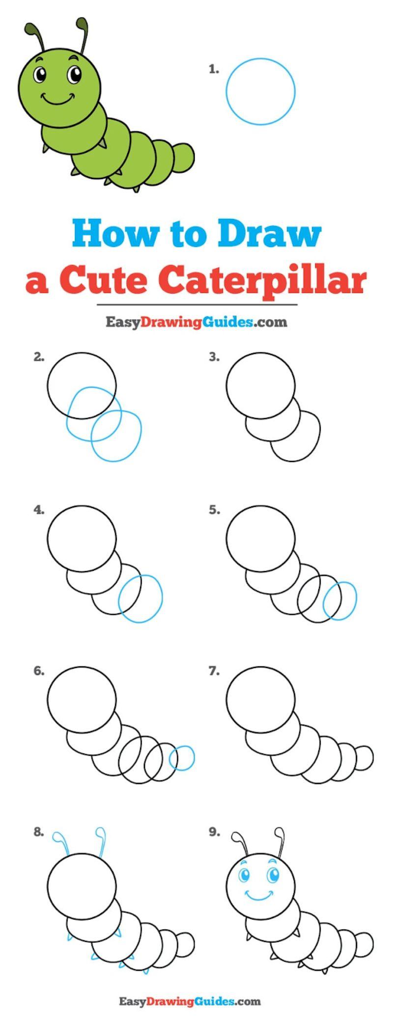 Circle Caterpillar Drawing