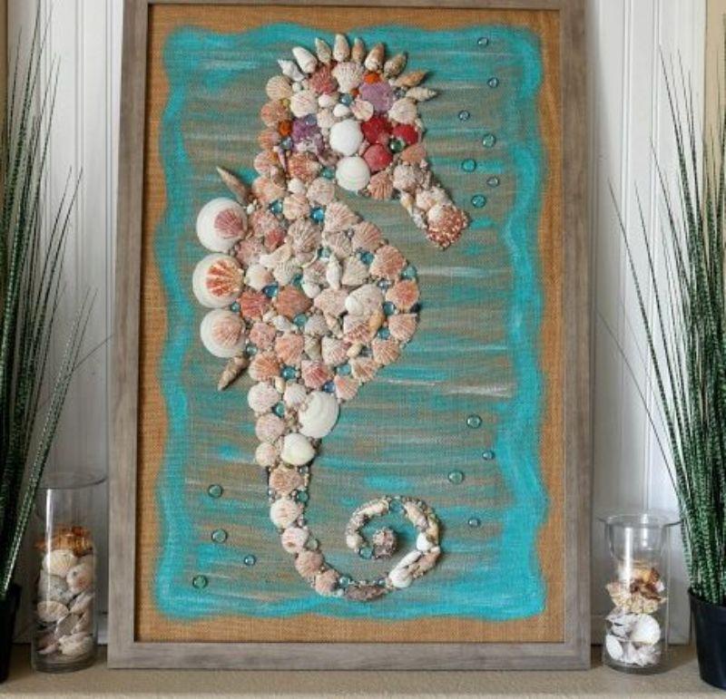 DIY Seashell Seahorse Craft