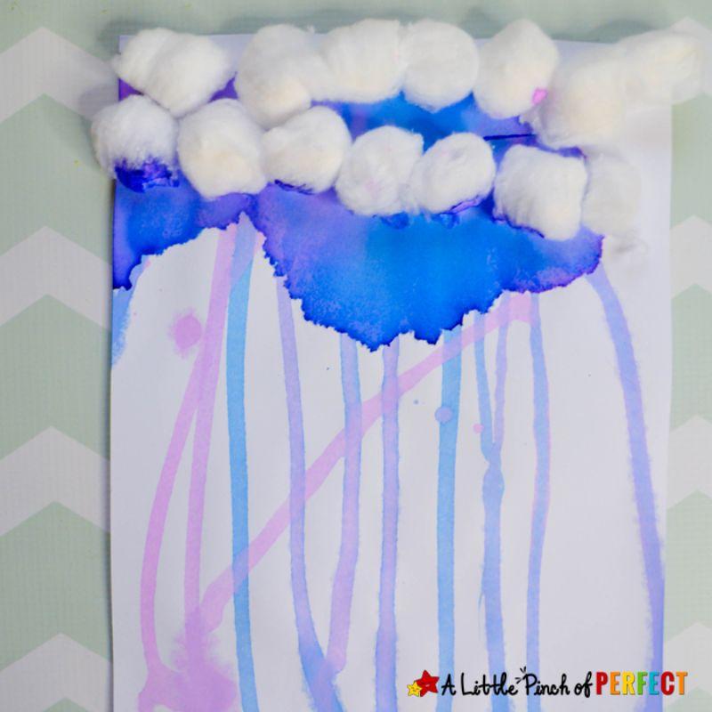 Drip Painting Rain Clouds