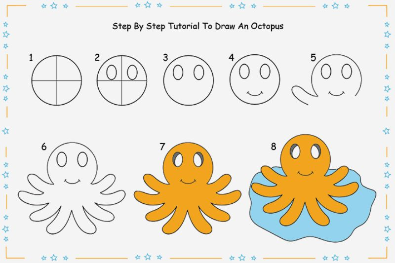 Easy Octopus Drawing