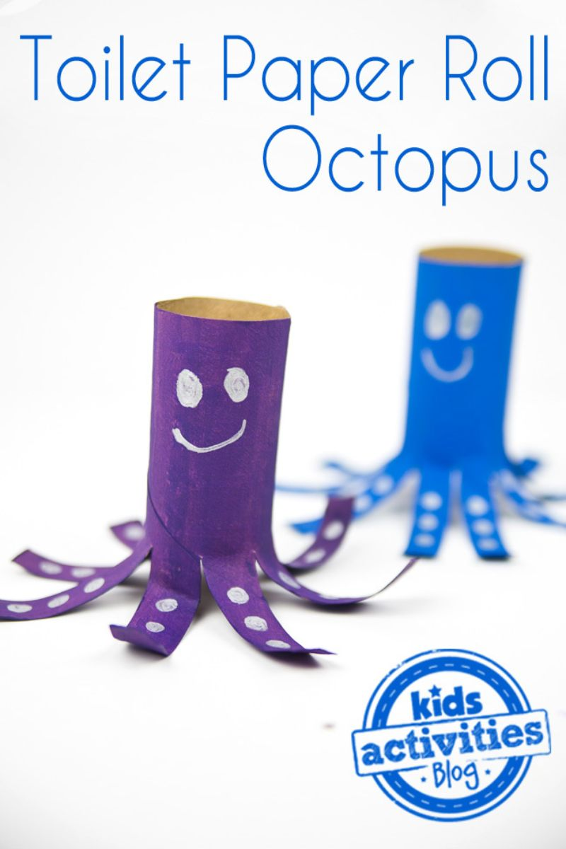 Empty Toilet Paper Roll Octopus Craft