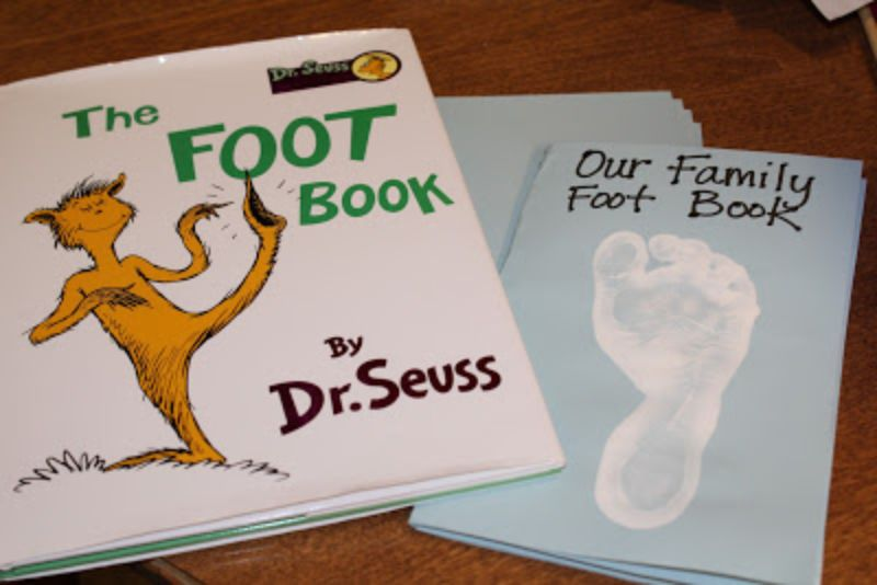 Family Foot Book Craft