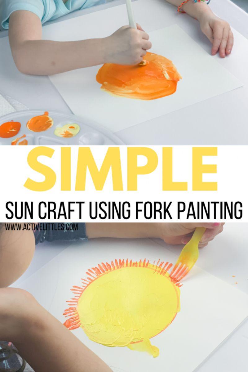 Fork Sun Rays Painting