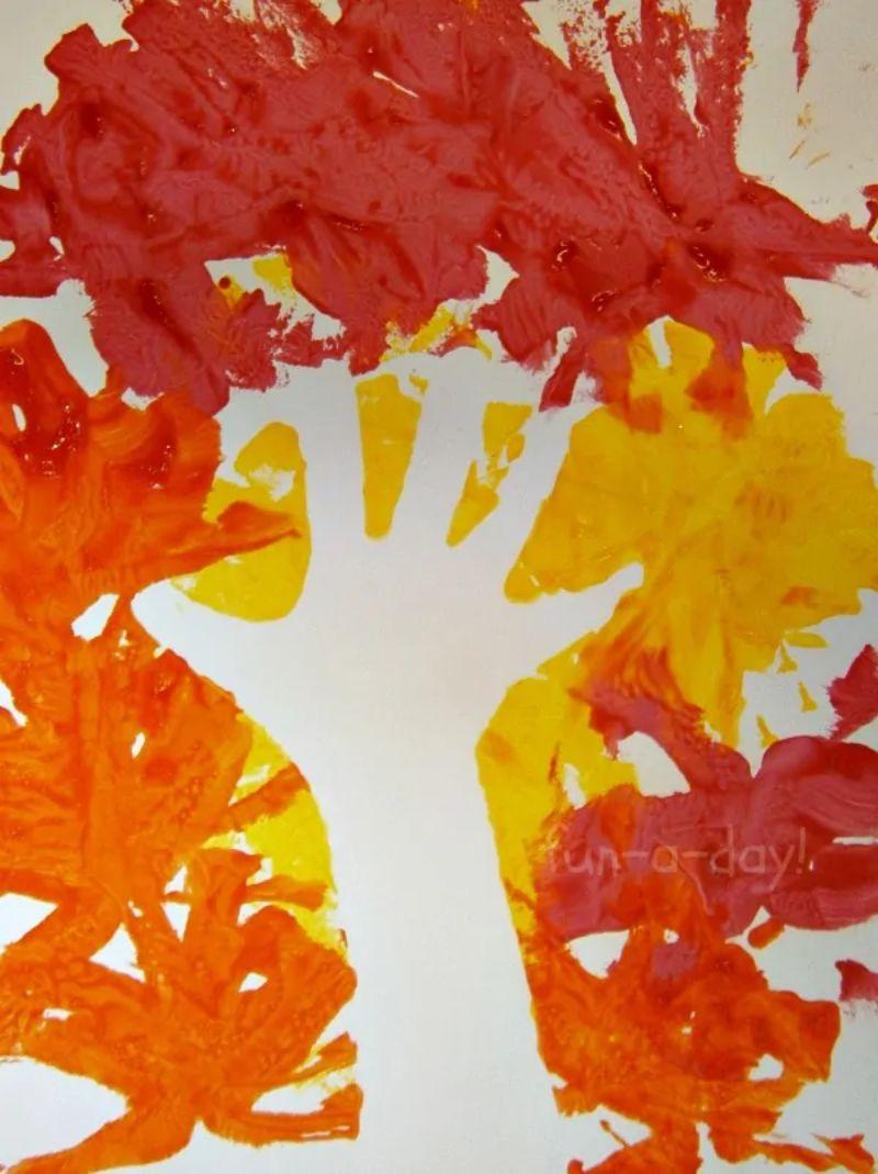 Handprint Negative Space Painting