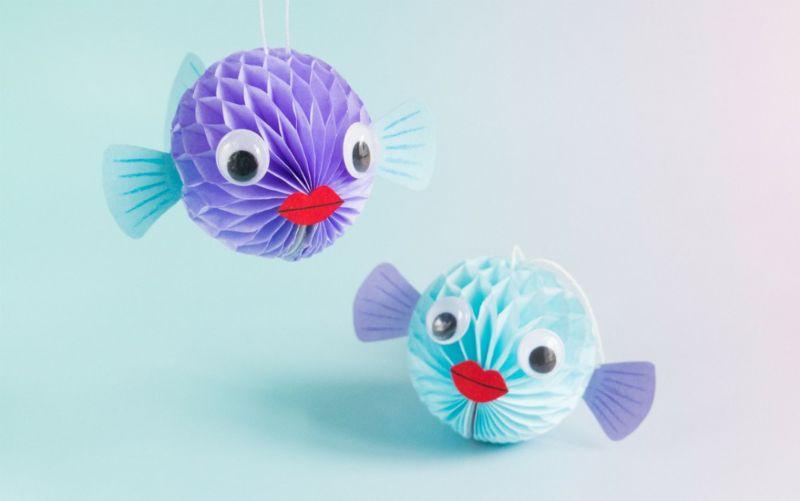 Honeycomb Pufferfish Craft