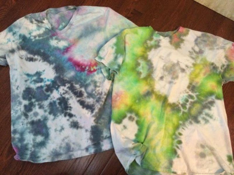 Ice Tie Dye Method