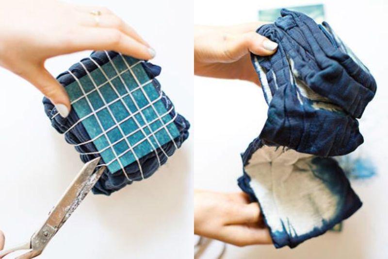 Itajime Shibori Tie Dye Method