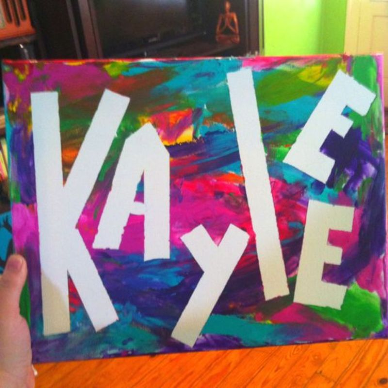 Negative Space Name Painting