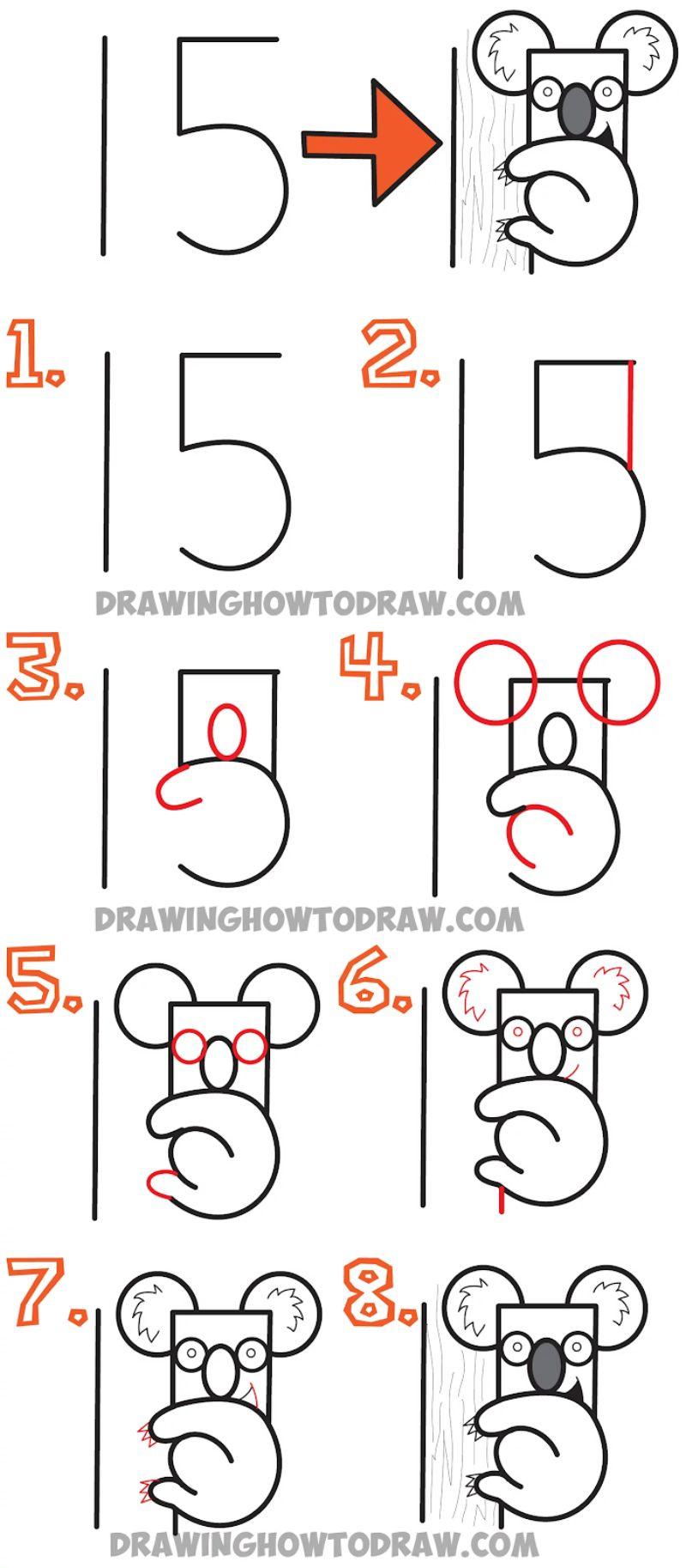 """Number 15"" Koala Drawing"