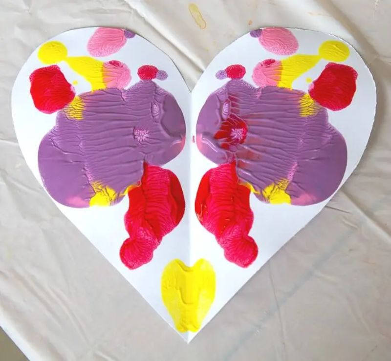 Symmetry Heart Painting