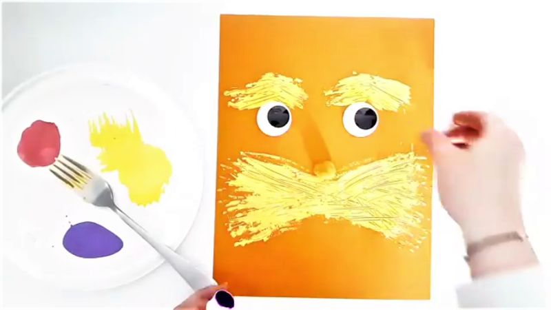 The Lorax Fork-Painting Craft