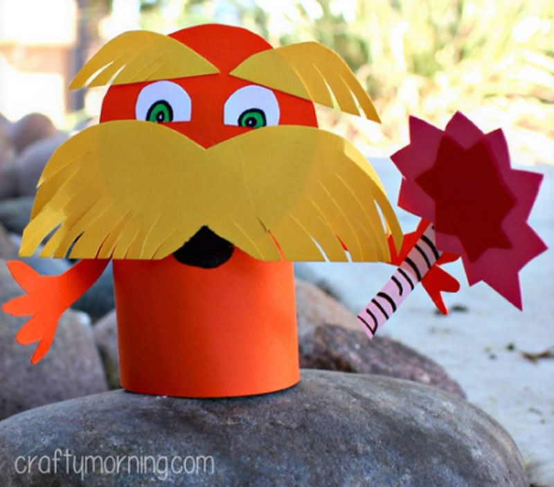 The Lorax Toilet Paper Roll Craft