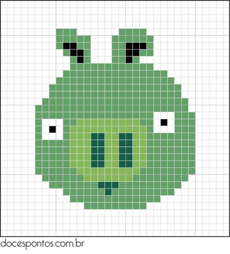 Angry Birds Pig Perler Bead Pattern