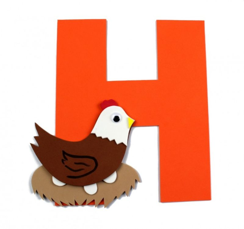 """""""H is for Hen"""" Craft"""
