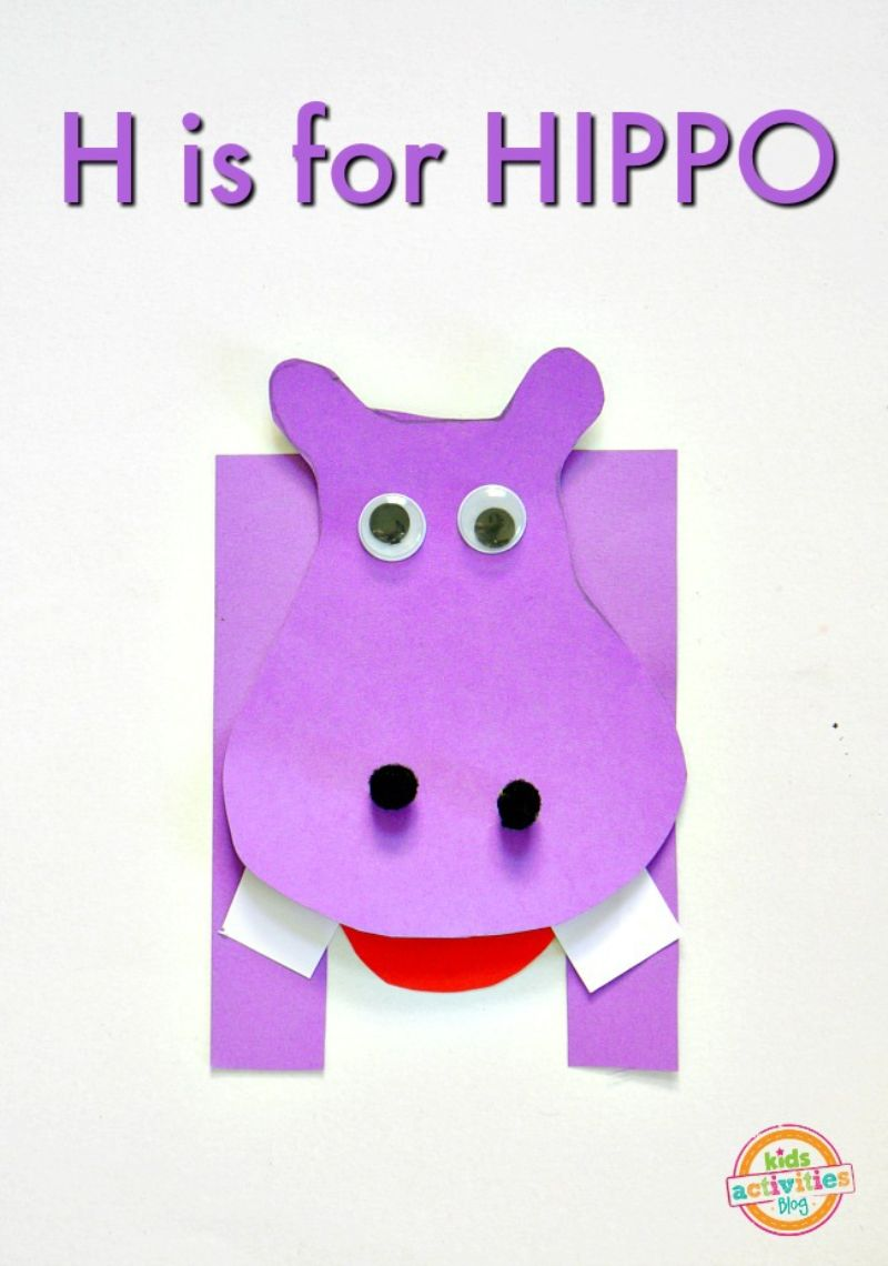 """""""H is for Hippo"""" Craft"""