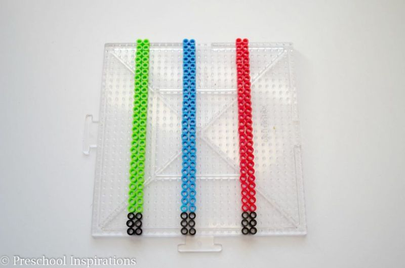 Lightsaber Perler Bead Pattern