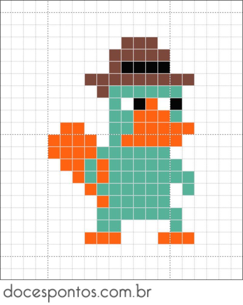 Perry the Platypus Perler Bead Pattern
