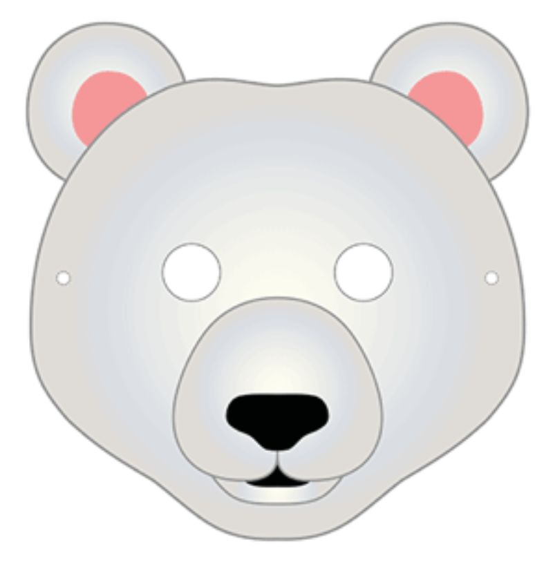Polar Bear Mask Craft