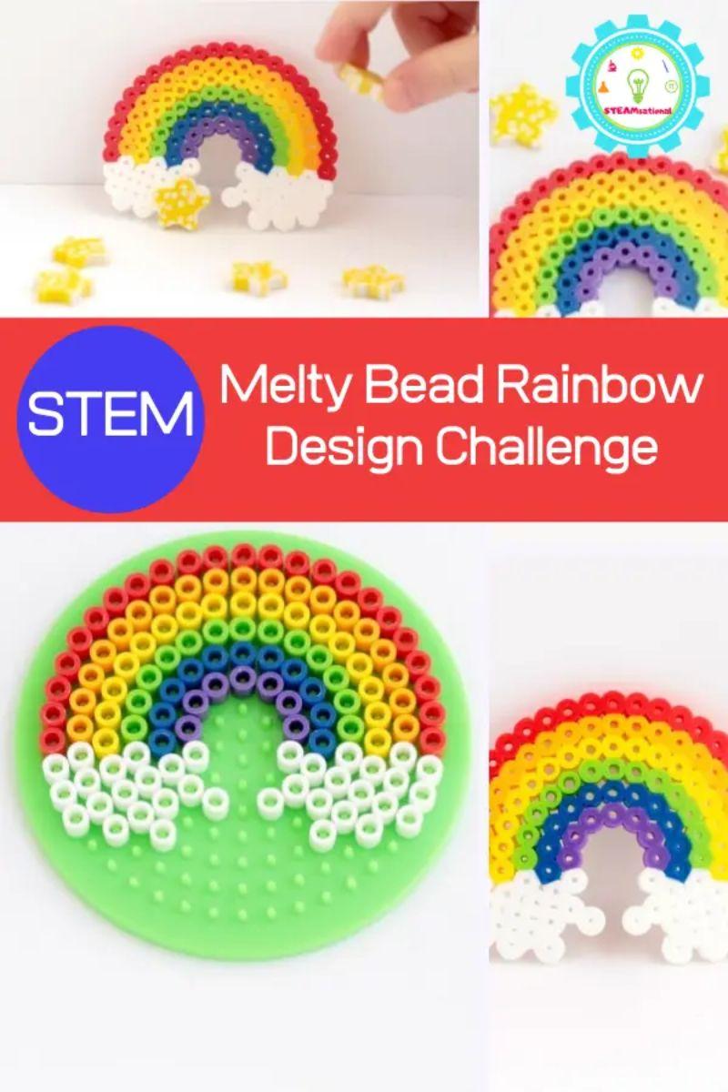 Rainbow Perler Bead Pattern